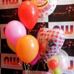 Воздушные шары с гелием для новорожденной