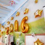Выпускные в школе. Украшение шарами. выпуск 2016