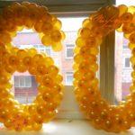 Плетеные цифры из шариков