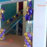 Украшение воздушными шарами открытия клуба
