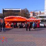 Украшение воздушными шарами торговых площадей